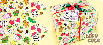 gift wrap christmas buy tofu gift wrap set kawaii christmas characters at tofu