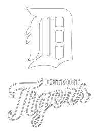 coloring pages of tigers detroit tigers logo coloring page free printable coloring pages