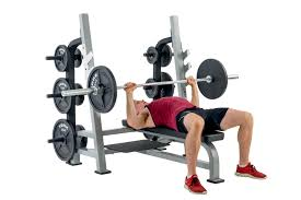 york sts olympic flat bench press with gun racks savage strength