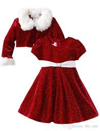 Samgami Baby Christmas Dress Suit New Year Red Dress Coats for Girls