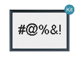 cross stitch kit censored funny gift idea diy craft unique