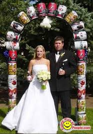 cheap wedding arch can wedding arch oh wait this is rodneys wedding not