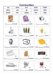 worksheet food quantifiers 1