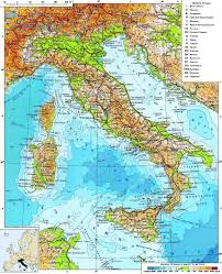 Map Of Croatia And Italy by Detailed Physical Map Of Italy Italy Detailed Physical Map