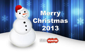 merry christmas greeting card with snowman picture and powerpoint