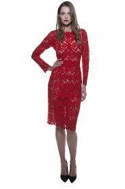 red lace long sleeve dress u2013 bambah