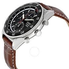 amazon black friday specials on seiko mens watches seiko chronograph black dial brown leather men u0027s watch sndg57p2