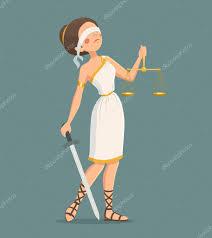 imagenes animadas de justicia gratis ilustración de la dama de la justicia archivo imágenes vectoriales