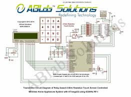 relay based 4 wire resistive touch screen controlled wireless home