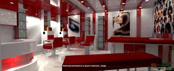 Parlour Interior Decoration Atelier Ix Interior Of A Beauty Parlour At Kasba