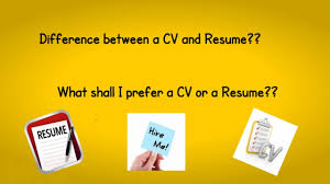 Difference Between Resume And Cv Difference Between Cv And Resume Youtube
