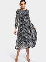 chiffon dress polka dot sleeve chiffon dress dot pattern chiffon dresses