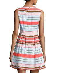 dress pattern fit and flare cece by cynthia steffe clairborne striped fit flare dress blue
