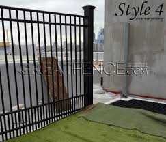 aluminum fence panels metal fence panels greatfence com