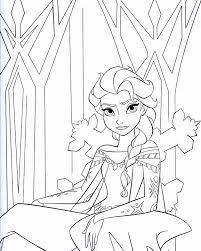 frozen elsa coloring pages getcoloringpages