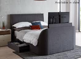 alexander oatmeal fabric tv bed frame dreams