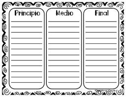 sequence worksheet in spanish hoja de trabajo secuencia