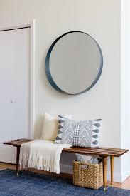 Entryway Mirrors A Serene Boston Bachelor Pad Midcentury Modern Vintage Shops