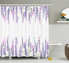 Lilac Curtains Shower Curtain Purple Flower Lavender Plants Aromatic Evergreen