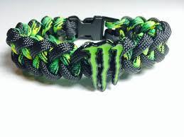 motocross monster energy gear monster energy paracord bracelet free shipping black yellow