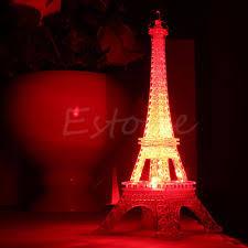 Eiffel Tower Bedroom Decor Eiffel Tower Night Light Decoration Led Lamp Desk Bedroom Lighting