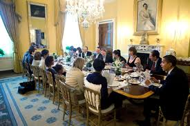 White House Dining Room U S President Barack Obama And Michelle Obama Host Passover Seder