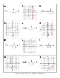 graphing rational functions memory game or card sort by miss