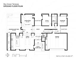 ground floor plan gallery of sky crown terraces bercy chen studio 31