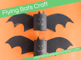 Halloween Paper Towel Roll Crafts Flying Bats Craft Moms Have Questions Too