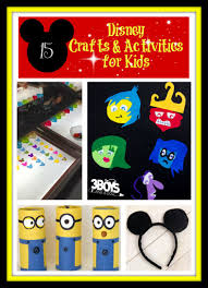 15 disney crafts and activities for kids u2013 3 boys and a dog
