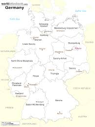 map of germany cities labeled vector map germany federal states stock 301161254