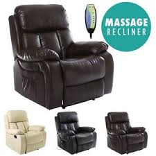 Ebay Armchair Chester Heated Leather Massage Recliner Chair Sofa Lounge Gaming