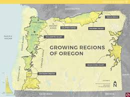 State Map Of Oregon by Oregon State Map Oregon Wine Industry