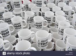 promotional mugs for sale at abergavenny food festival