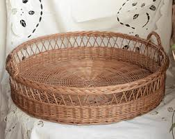 big round wicker traylarge rustic ottoman wicker tray large