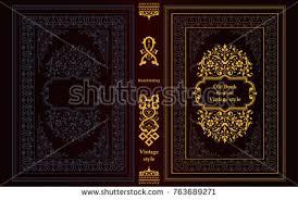 golden book cover vectors free vector stock