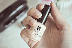 gel french manicure at home
