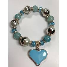 bead bracelet styles images China tiffany blue glass stone beaded bracelets with metal beads jpg