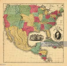 Images Of The United States Map by Central America North America Mexico United States 1852 Map Of The