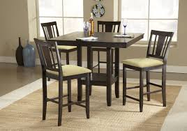 Cheap Dining Room Chairs Set Of 4 by Dining Room Square Dark Brown Wooden Tall Dining Table With Set