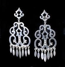 Big Chandelier Earrings Stupendously Big Vintage Mexican Silver Chandelier Earrings One
