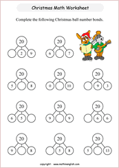 printable christmas math worksheets for online math practice