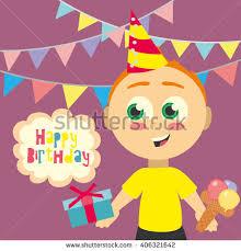 children happy birthday stock vector 44785009 shutterstock
