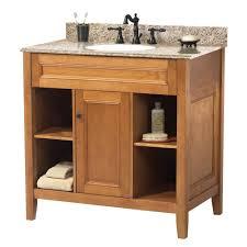 foremost exhibit 31 in w x 22 in d bath vanity in rich cinnamon