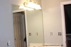 how to frame a bathroom mirror with moulding