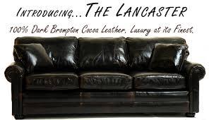 Lancaster Leather Sofa Lancaster Leather Sofa Todays Leather Furniture
