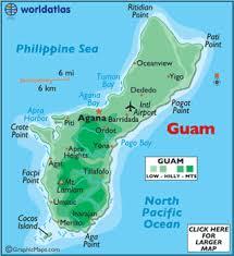 guam on map guam map geography of guam map of guam worldatlas com