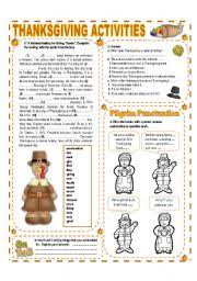 worksheets november theme thanksgiving activities with
