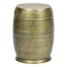 Metal Patio Side Table Gold Outdoor Side Tables Patio Tables The Home Depot