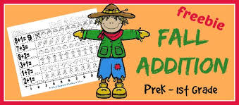 free fall worksheet packet for preschool first grade blessed